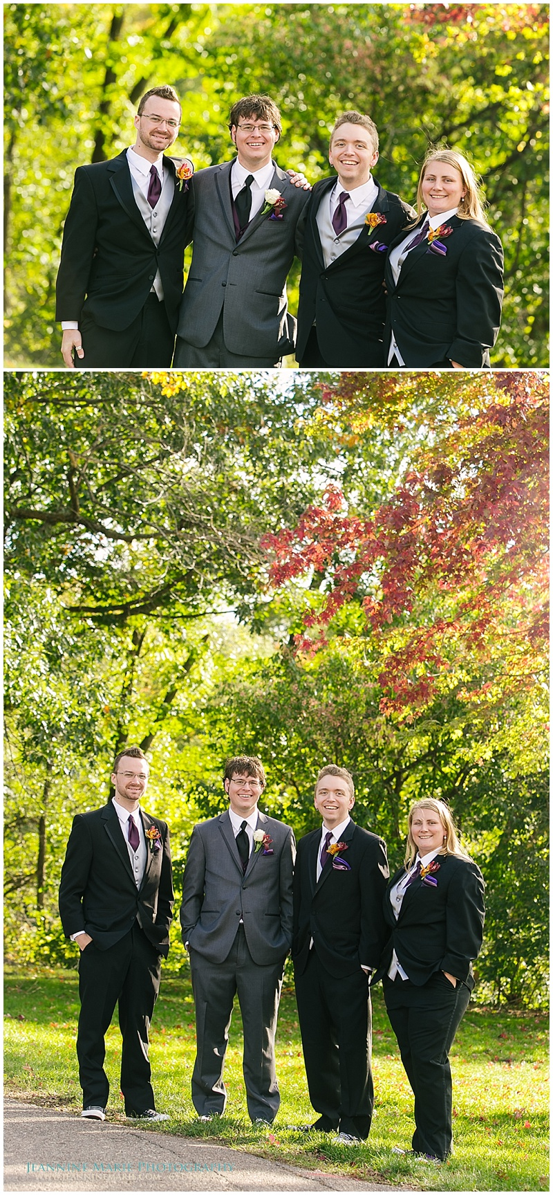 Ali and Jason, groomsmen poses, groomwoman, Minnesota Landscape Arboretum, Twin Cities wedding photographer, Jeannine Marie Photography_1076