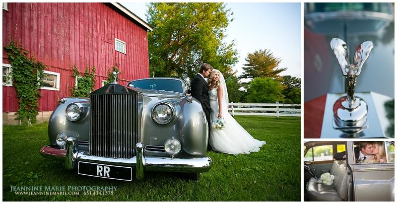 Hope Glen Farm, Cinderella themed wedding, Silver Rolls Royce, Twin Cities car rental, Twin Cities wedding photographer, Jeannine Marie Photography_1110