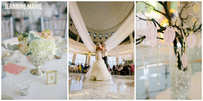 Carlton Towers, blush and gold wedding, weddings, bride, groom, first dance, draping, centerpieces, wishing tree, guestbook