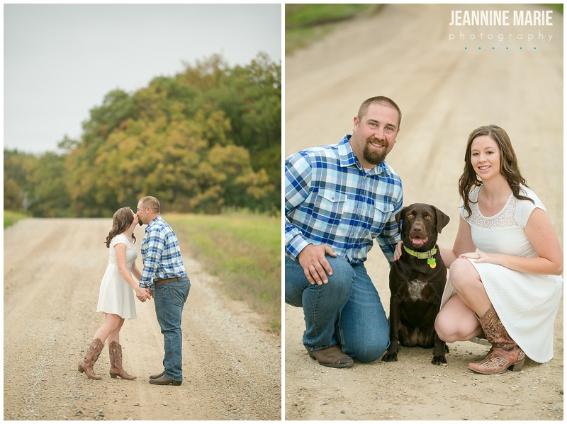 Ritter Farm Park, engagement session, dog, man, woman, country engagement, rustic engagement, dirt road