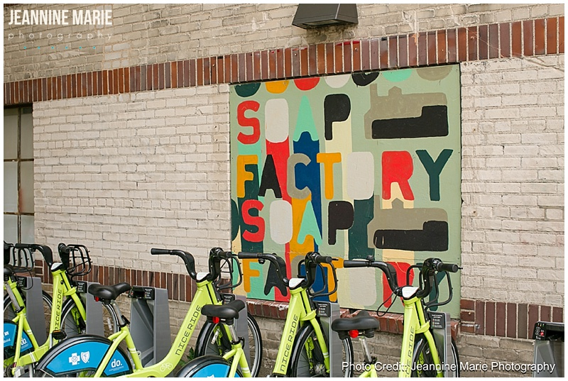 ISES, Soap Factory, Twin Cities wedding vendors, bikes, building, sign