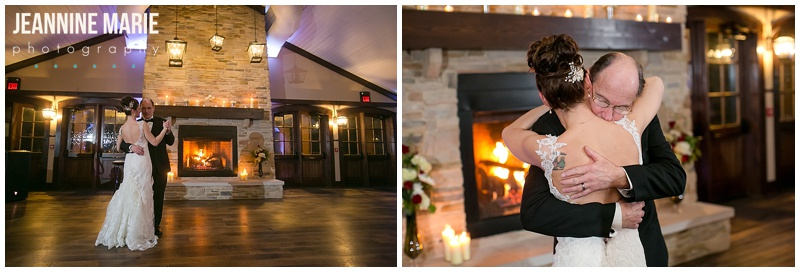 father daughter dance, Manor House, Carriage House, weddings, Ohio weddings, wedding reception, fireplace, candles