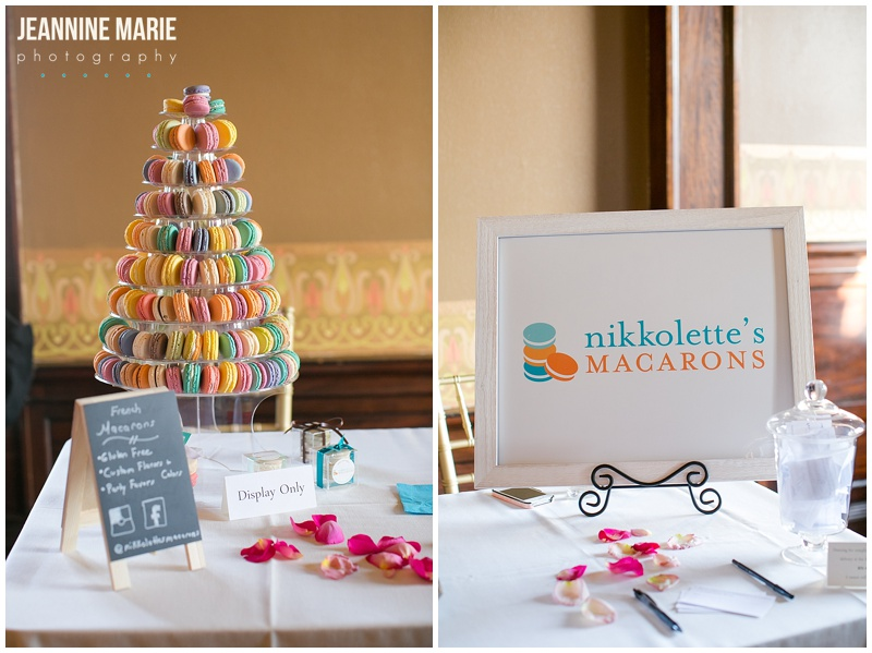 Nikkolette's Macarons, dessert, wedding, food, macarons, Semple Mansion