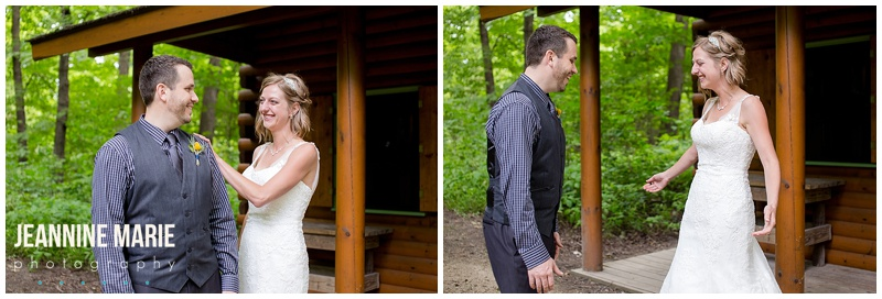 first look, first look ideas, bride, groom, wedding, Three Rivers Park