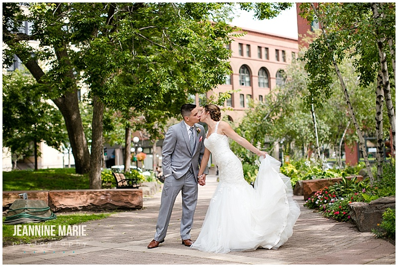 Mears Park, Lowertown Event Center, park wedding, Saint Paul wedding, Saint Paul park wedding, outdoor wedding