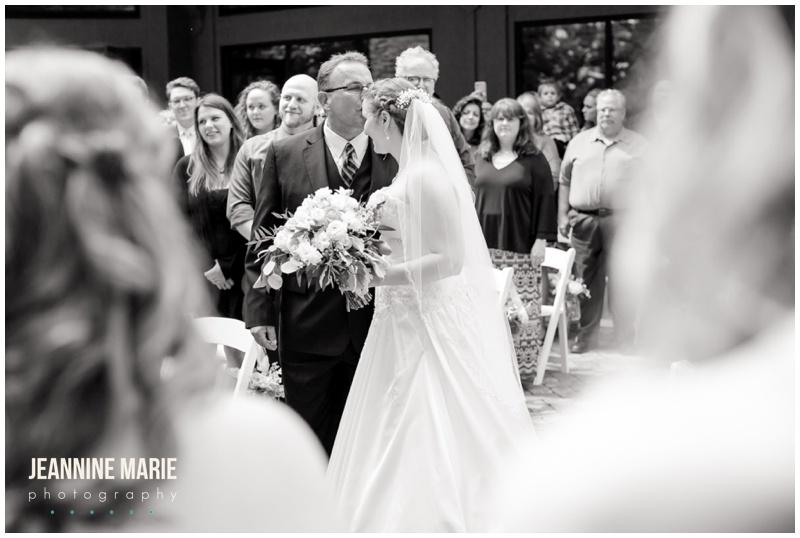 Silverwood Park, wedding, Minneapolis wedding, wedding ceremony, outdoor wedding, summer wedding, bride, father of the bride, wedding gown, wedding dress