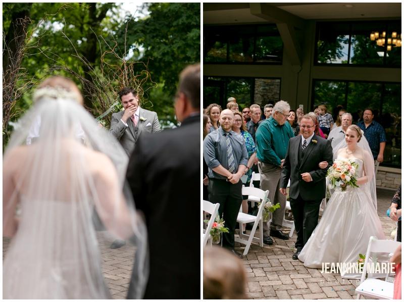 Silverwood Park, wedding, Minneapolis wedding, wedding ceremony, outdoor wedding, summer wedding, father of the bride, walk down aisle, bride, groom