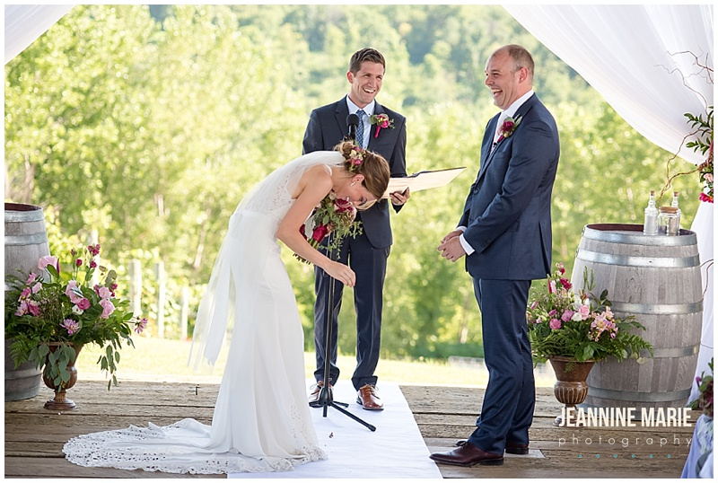 Cannon River Winery, winery wedding, Minnesota wedding, Minnesota winery, Minnesota vineyard, summer wedding, wedding inspiration, wedding ceremony, outdoor wedding, outdoor ceremony