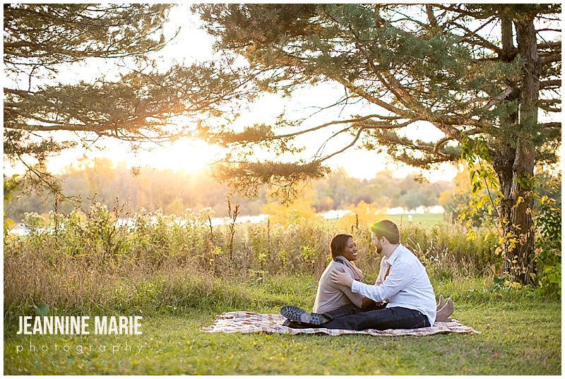 Boom Island, fall engagement, engagement session, engagement portraits, engaged, outdoor engagement session, Minnesota engagement photos, Minneapolis engagement photographer, Minnesota engagement photographer, Jeannine Marie Photography