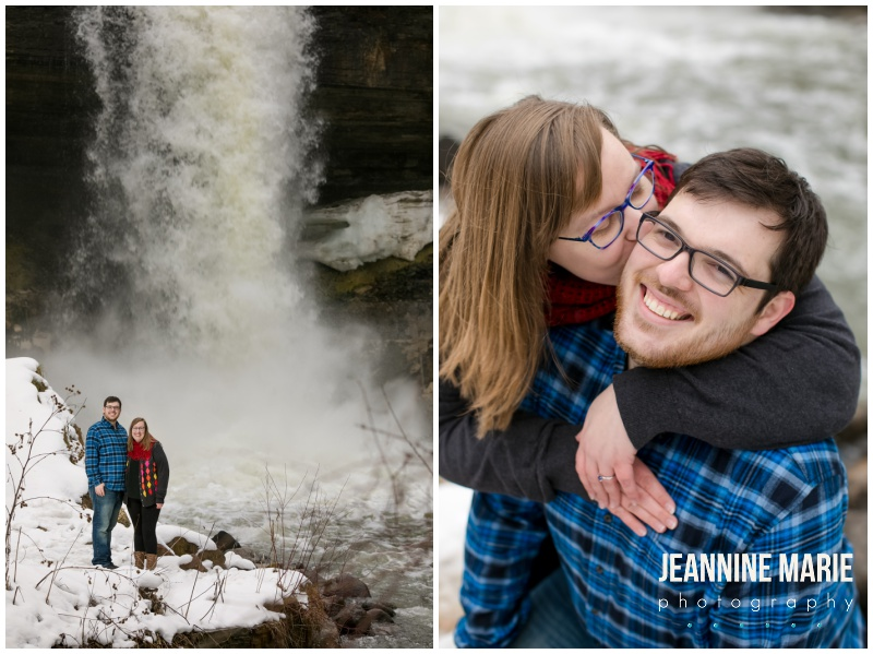Minnehaha Falls, winter engagement session, spring engagement session, snowy engagement session, snowy engagement photos, Minneapolis engagement session location, Minneapolis engagement portraits, Minneapolis engagement photos, winter engagement, engagement, engaged, Minneapolis engagement, Jeannine Marie Photography, Minneapolis engagement photographer, Minnesota engagement photographer, Saint Paul engagement photographer