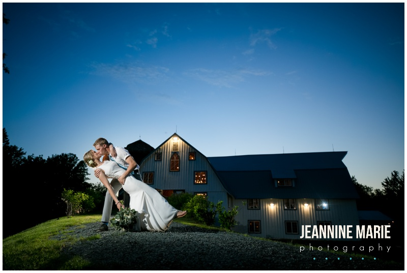 night portraits, dip, kiss, bride, groom, wedding portraits, Bloom Lake Barn, summer wedding, barn wedding, Minnesota barn wedding, blue wedding, rustic wedding, Minnesota wedding barns, Jeannine Marie Photography, Minnesota wedding photographer, Minneapolis wedding photographer, photographers near me, Saint Paul wedding photographer, wedding photography, barn wedding photographer, Bloom Lake Barn wedding photographer, Minneapolis wedding photography, Minnesota wedding photography, Studio B Floral, Unique Dining Catering, Bread Art, 139 Hair by Heidi, Laura Westrem Artistry, Che Bella Boutique, Kennedy Blue, Kohl's, Rustic Elegance, Ultimate Events, Minneapolis wedding vendors, Minnesota wedding vendors, Twin Cities wedding vendors