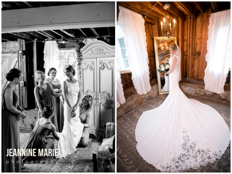 bride, wedding gown, wedding dress, bridal style, bridal fashion, getting ready, bridal hair, bridal makeup, lace wedding gown, wedding train, Bloom Lake Barn, summer wedding, barn wedding, Minnesota barn wedding, blue wedding, rustic wedding, Minnesota wedding barns, Jeannine Marie Photography, Minnesota wedding photographer, Minneapolis wedding photographer, photographers near me, Saint Paul wedding photographer, wedding photography, barn wedding photographer, Bloom Lake Barn wedding photographer, Minneapolis wedding photography, Minnesota wedding photography, Studio B Floral, Unique Dining Catering, Bread Art, 139 Hair by Heidi, Laura Westrem Artistry, Che Bella Boutique, Kennedy Blue, Kohl's, Rustic Elegance, Ultimate Events, Minneapolis wedding vendors, Minnesota wedding vendors, Twin Cities wedding vendors