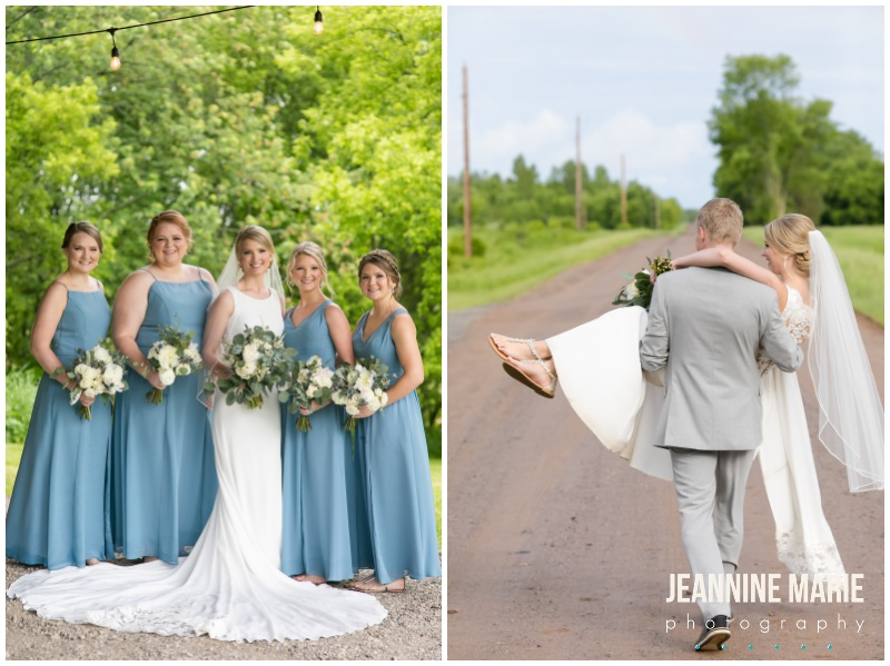 bride, groom, blue bridesmaids dresses, Kennedy Blue bridesmaids, bridesmaids bouquets, bridal bouquet, Bloom Lake Barn, summer wedding, barn wedding, Minnesota barn wedding, blue wedding, rustic wedding, Minnesota wedding barns, Jeannine Marie Photography, Minnesota wedding photographer, Minneapolis wedding photographer, photographers near me, Saint Paul wedding photographer, wedding photography, barn wedding photographer, Bloom Lake Barn wedding photographer, Minneapolis wedding photography, Minnesota wedding photography, Studio B Floral, Unique Dining Catering, Bread Art, 139 Hair by Heidi, Laura Westrem Artistry, Che Bella Boutique, Kennedy Blue, Kohl's, Rustic Elegance, Ultimate Events, Minneapolis wedding vendors, Minnesota wedding vendors, Twin Cities wedding vendors