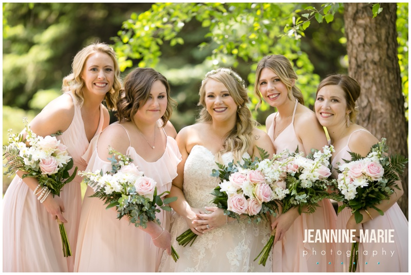 bride, bridesmaids, blush bridesmaids, pink flowers, pink bouquet, bridal bouquet, bridesmaids bouquets, summer wedding floral, Courtyards of Andover, Melanie T Moy, Unique Dining Experiences Catering, Buttercream, Instant Request DJ, Mirror Me Perfect, Minnesota Officiants, Amata Salon, Lindsay Dukes Photography, Raffine Bridal, David's Bridal, Men's Wearhouse, Jeannine Marie Photography, Minnesota wedding photographer, Minneapolis wedding photographer, Courtyards of Andover wedding photographer, wedding photography, Minnesota wedding photography, wedding photographers near me, best Minnesota wedding photography, intimate wedding, budget wedding, blush wedding, summer wedding, pink wedding, pink flowers, outdoor wedding ceremony, ballroom wedding, Minnesota wedding venues