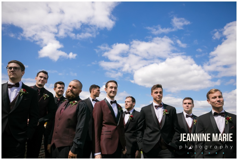 groom, groomsmen, burgundy suits, Interlachen Country Club, Richfield Flowers, Sara's Cakery, Cold Spring Bakery, Linen Effects, Minnesota wedding photographer, Minneapolis wedding photographer, Jeannine Marie Photography, burgundy wedding photographer, golf club wedding, DIY wedding, Star Wars wedding