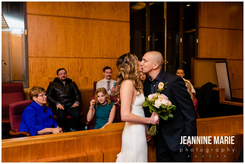 courthouse wedding portraits, Ramsey County Courthouse, courthouse wedding, intimate wedding, Ramsey County Courthouse, Saint Paul Hotel, St. Paul Grill, winter wedding, courthouse wedding, Twin Cities courthouse wedding, Saint Paul courthouse wedding, winter wedding, winter wedding portraits, Harriet Island, Jeannine Marie Photography, Minnesota wedding photographer, Saint Paul wedding photographer