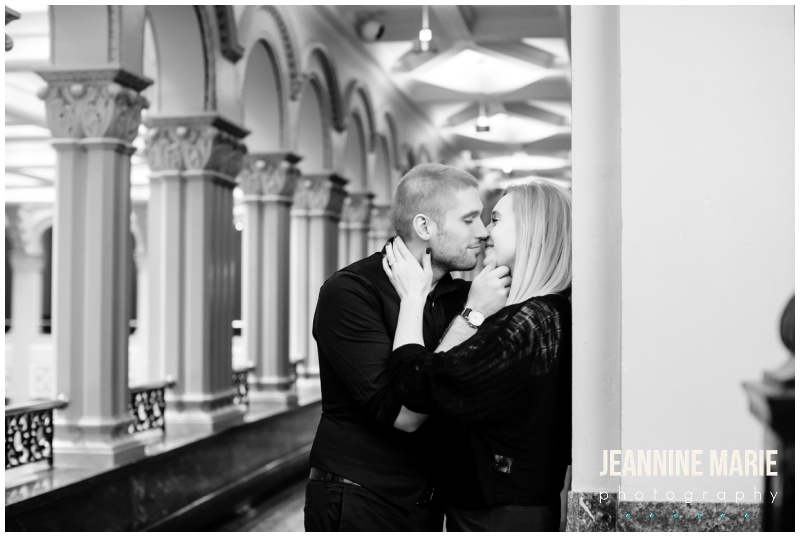 downtown Saint Paul engagement session, downtown Saint Paul, Landmark Center, Saint Paul Hotel, winter engagement session, outdoor engagement session, Saint Paul engagement photographer, Saint Paul wedding photographer, Jeannine Marie Photography, wedding planning, engaged