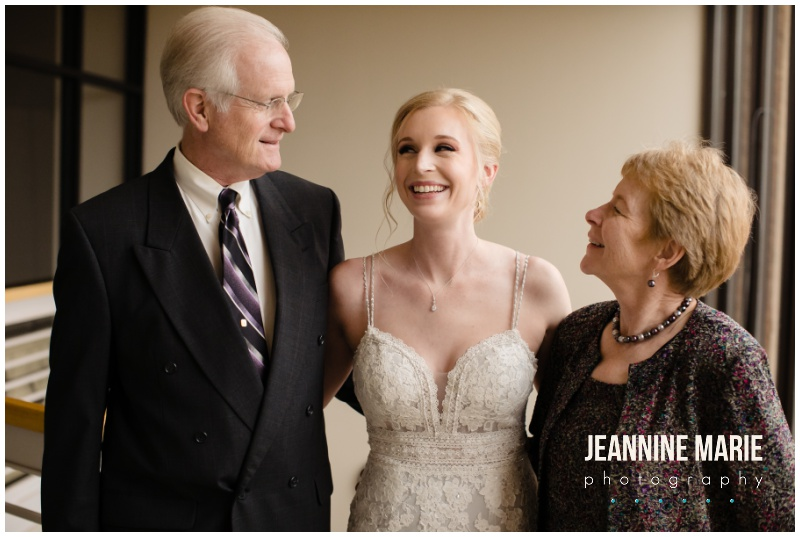 bride, mother of the bride, father of the bride, portraits, green bridesmaids dresses, navy suits, burgundy wedding floral, hotel wedding, church wedding, fall wedding, covid wedding, pandemic wedding, Jeannine Marie Photography, Minnesota wedding photographer, Lakeville wedding photographer, Bloomington wedding photographer, Twin Cities wedding photographer, Minneapolis wedding photographer, All Saints Catholic Church, Sheraton Bloomington Hotel, Colleen's Flower Cellar, Queen of Cakes, Instant Request DJ, Minted, Salon Concepts, Ella Rose, Raffine Bridal, Shane Co., Azazie, Men's Wearhouse